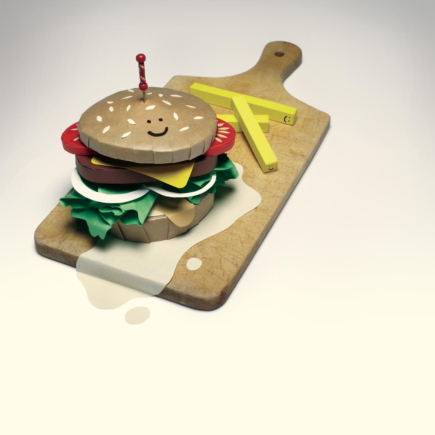 paper burger