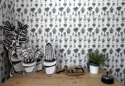 papier peint plantes grasses